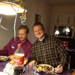 Kenneth and Steffen on New Year's Eve 2012