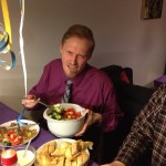 Kenneth is not enjoying the salad... (New Year's Eve 2012)